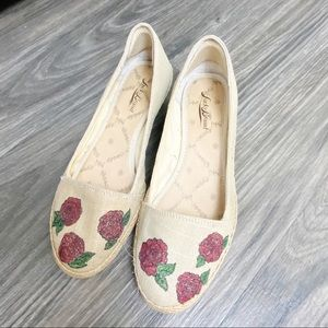 Lucky Brand Heel Flats With Roses